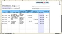 Check Book Register Example