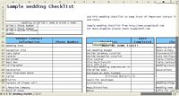 Wedding Checklist Example
