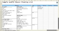 Weekly House Cleaning Checklist Example