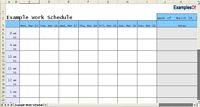Sample Work Schedule Example