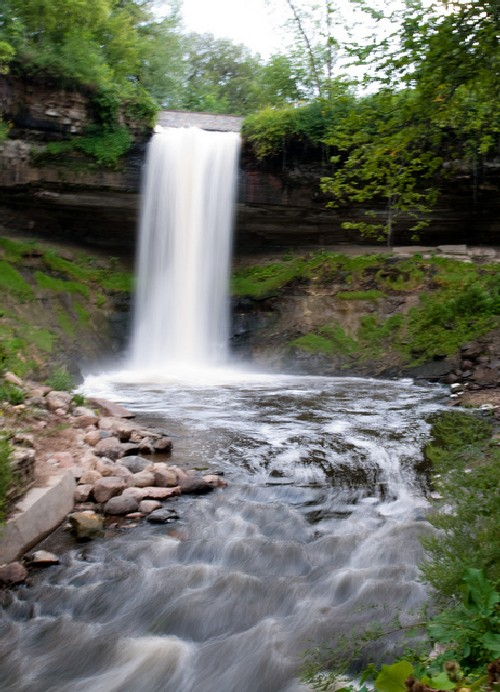 minnehaha falls long exposure example