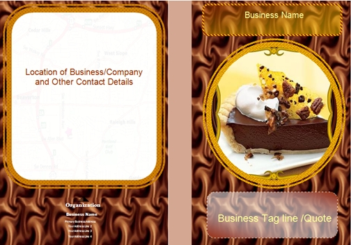 food brochures samples