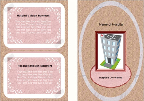 Download hospital brochure front and back view