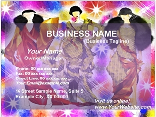 dress shop business card example