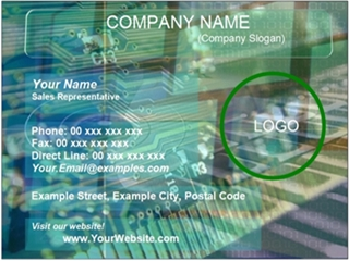 electronics business card example