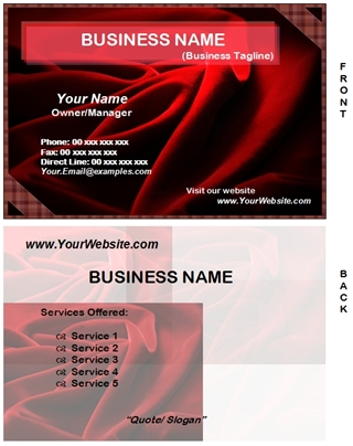 fabrics business card example