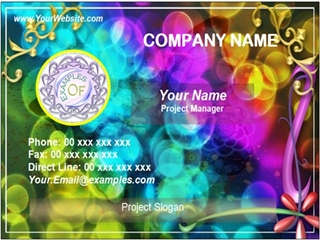 fancy business card example