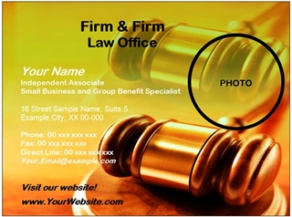 legal business card example