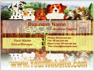 pets business card example