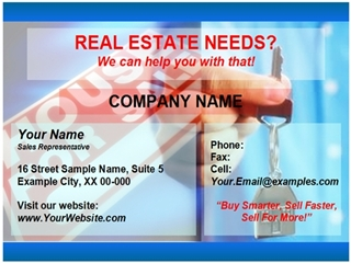 real estate business card example