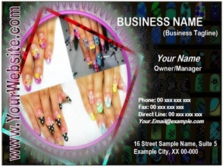 salon business card example