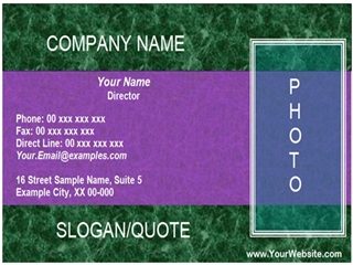 simple business card example