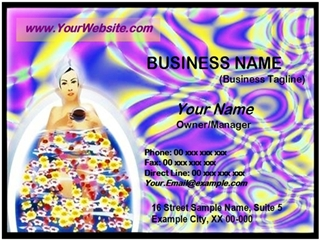 spa business card example