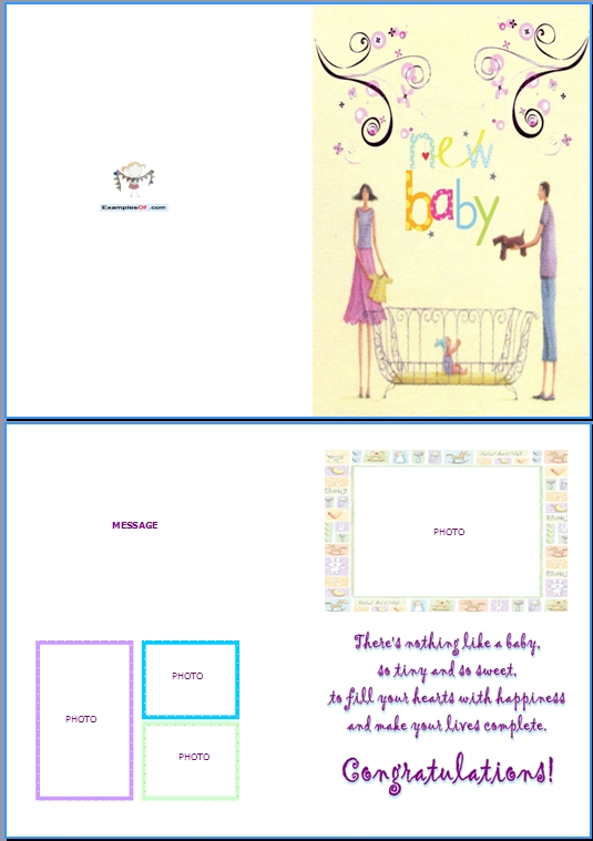 Example Baby Birth Card:New Baby
