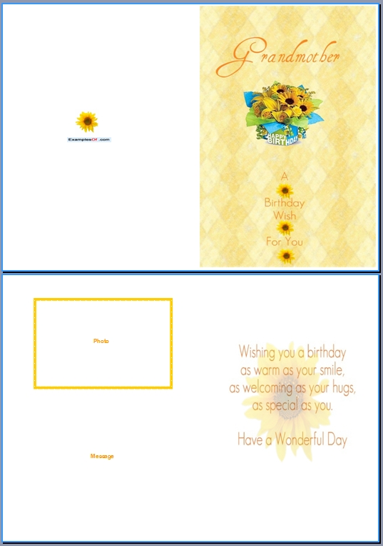 Download Word Template Of This Example Birthday Card For Grandma