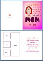 Birthday Card For Her:Great Mom Example