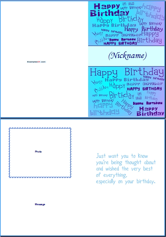 Example Birthday Card for Him:Add Nickname
