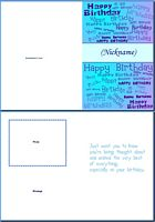 Birthday Card For Him:Add Nickname Example