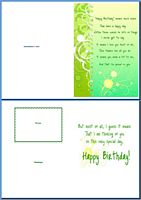Birthday Card For Him:Happy Birthday Means Much More Example