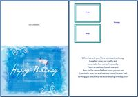 Birthday Cards For Him:Summer Blue Birthday Example
