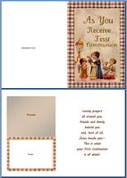 Communion Card:As You Receive First Communion Example