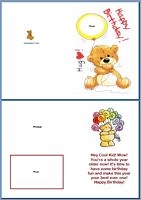 Kids Card:Bear Birthday Example