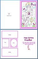 Kids Card:Birthday Princess Example