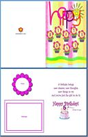 Kids Card:Flowery Birthday Example