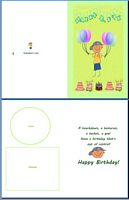 Kids Card:Sporty Kid Example