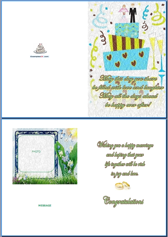 Example Wedding Card:Wedding Cake