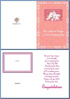 Wedding Card:For a Special Couple on Your Wedding Day Example