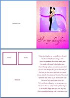 Wedding Card:For My Daughter Example