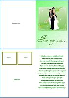 Wedding Card:For My Son Example