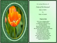 memorial card poem of life example