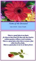 memorial card special place in our hearts example