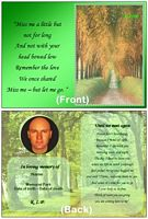 nature memorial card until we meet again example