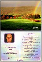 nature memorial card remembrance example