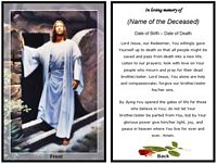 Christian Memorial Card:Jesus Resurrection Example