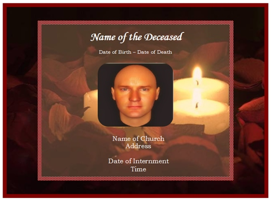 funeral remembrance cards template - funeral memorial