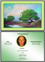 Funeral Landscape Card:Lake Example