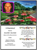 Funeral Landscape Card:Rose Garden Example