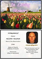 Funeral Landscape Card:Tulips Example
