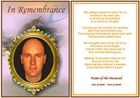 Example rememberance Funeral Card:The Watcher
