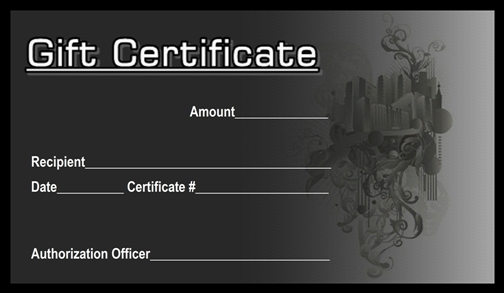 gift certificate building design