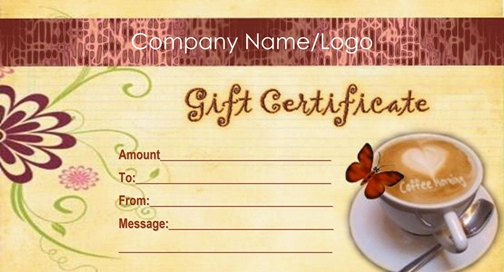 coffee style example gift card