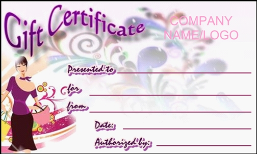 ExamplesOf.com  Gift Certificates Samples