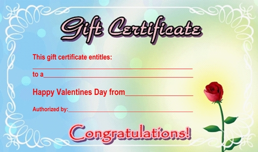 design samples of gift certificates