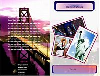 travel leaflet example