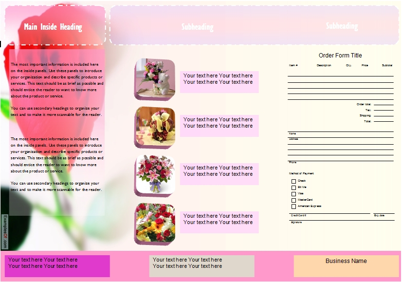 Flower Leaflets Samples