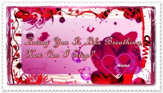 Red Heart Love You Card Example  C B Click Here For Word Template